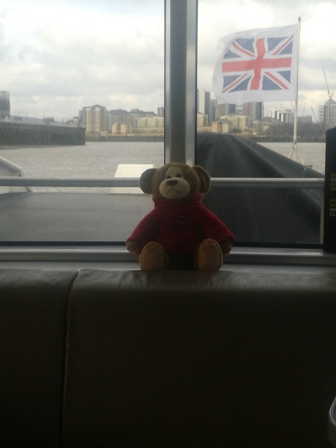 Denzil on the Thames Clipper