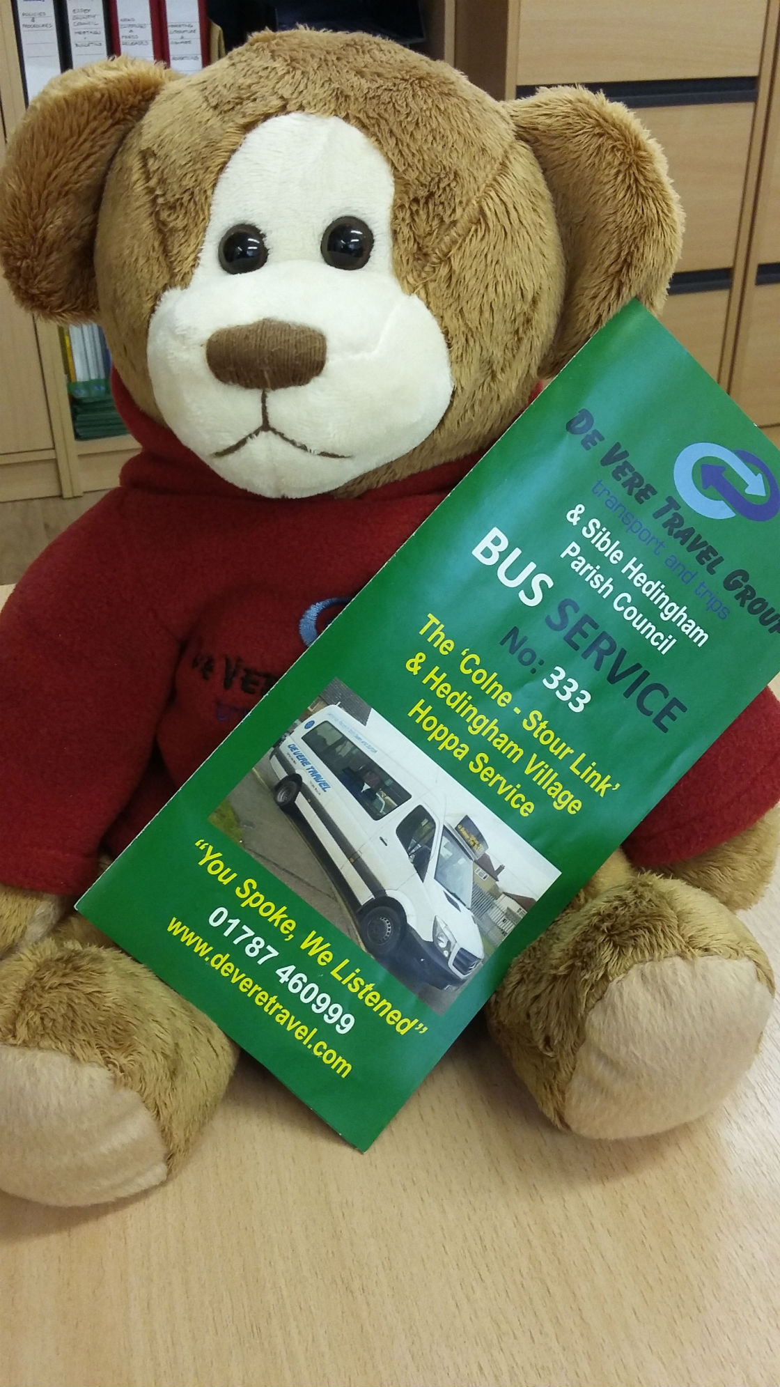 Denzil with 333 timetable