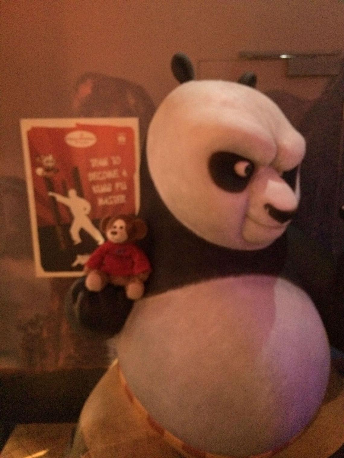 Denzil with Kungfu Panda